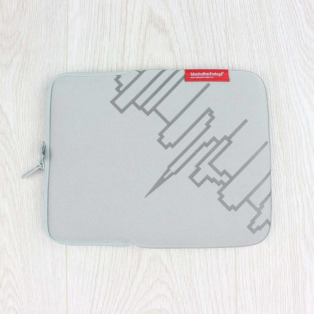Manhattan Portage iPad (8-10in) Skyline Neoprene Sleeve Silver