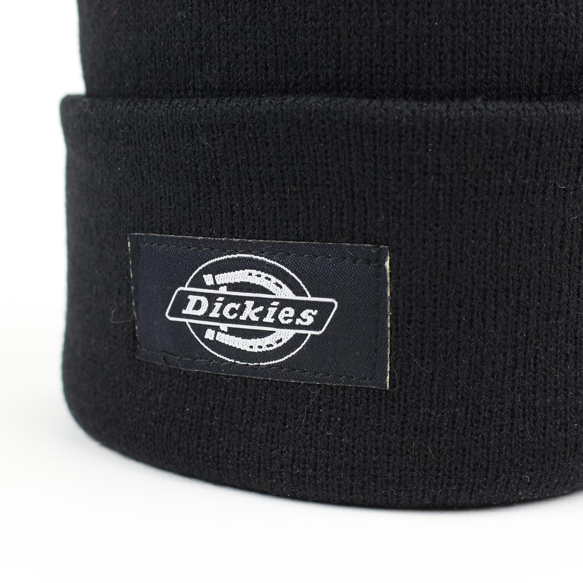 Dickies Yonkers Cuffed Beanie Hat - Black  eb91e763383