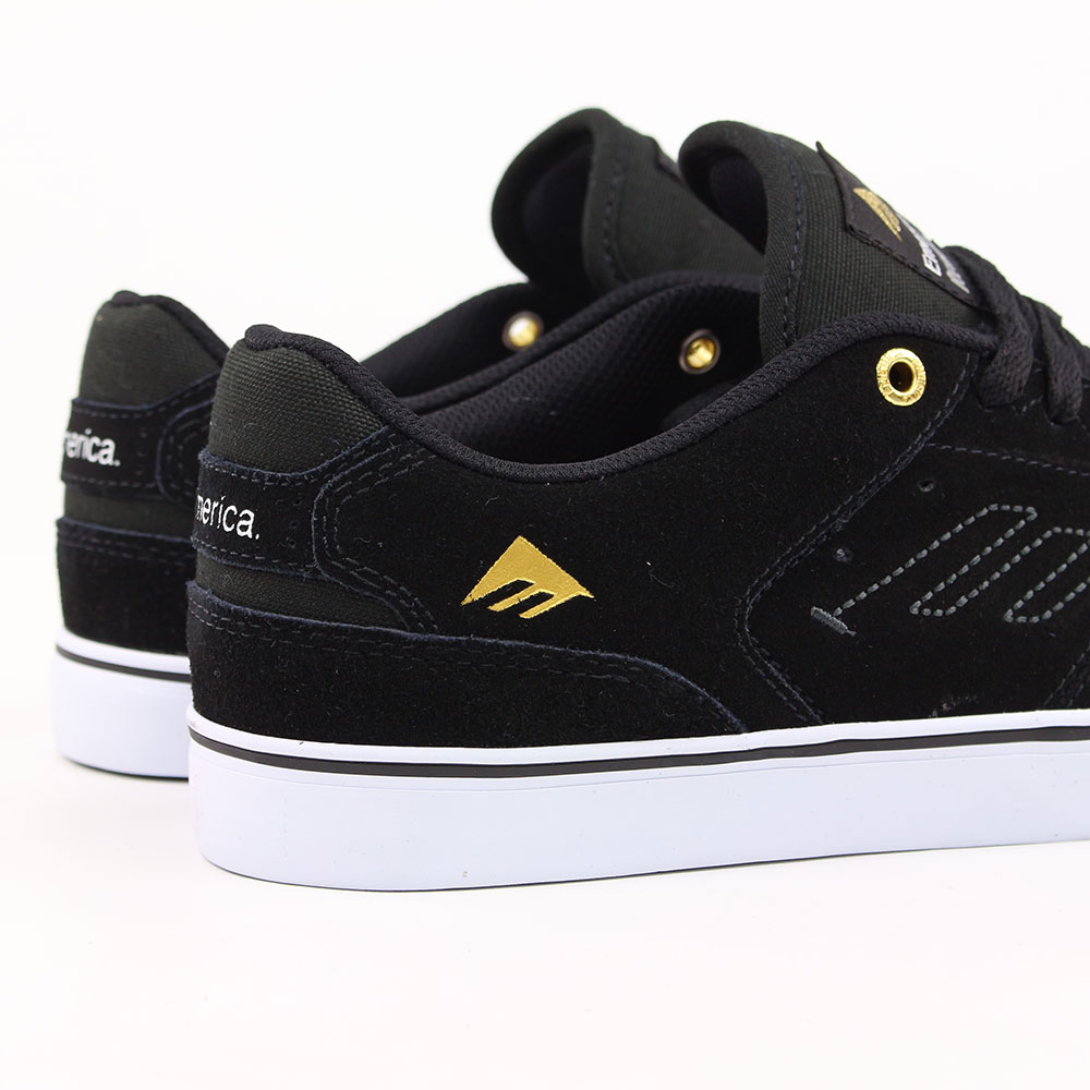 4769ae8f6483 Emerica Shoes The Reynolds Low Vulc - Black White