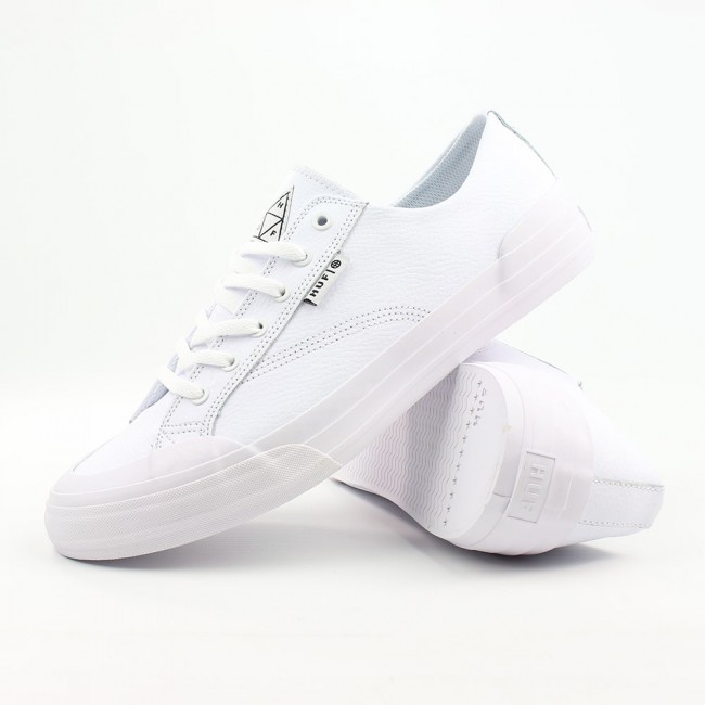 huf shoes classic lo white leather