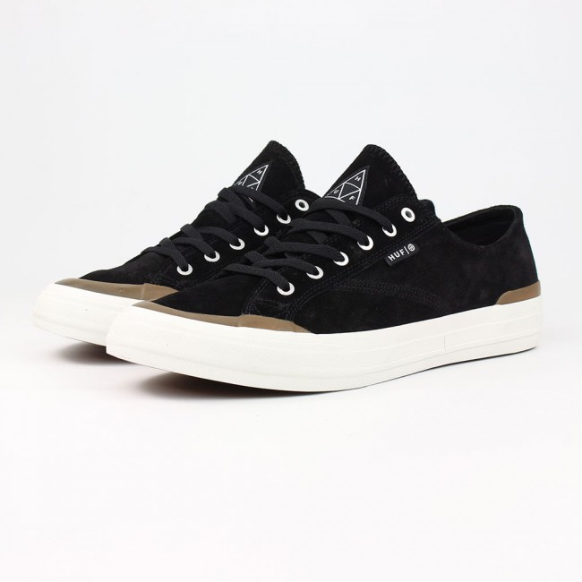 huf shoes classic lo black gum suede