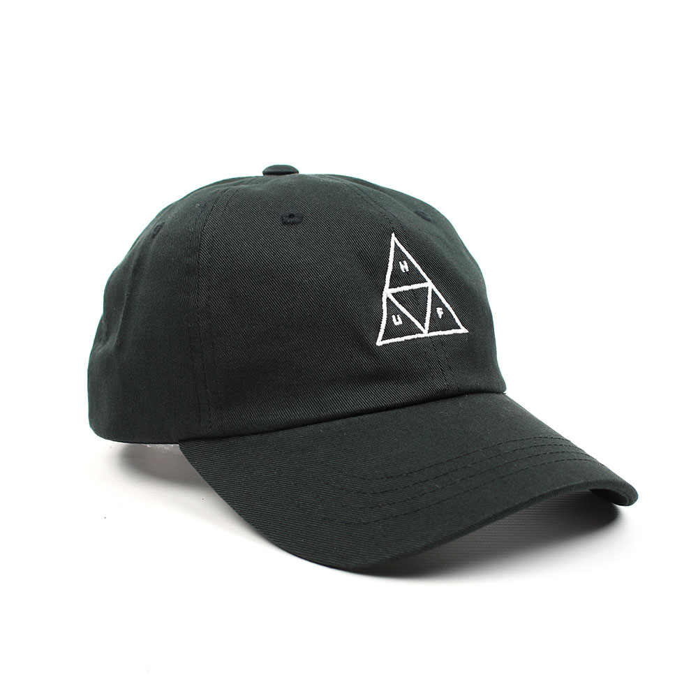19ca216ca1896 HUF Triple Triangle Curved Brim Adjustable Hat - Black
