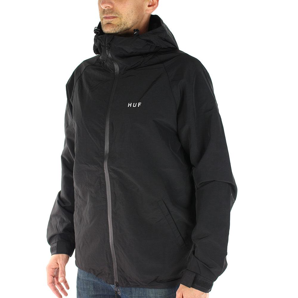 HUF-Standard-Shell-Zip-Through-Jacket-Black-02