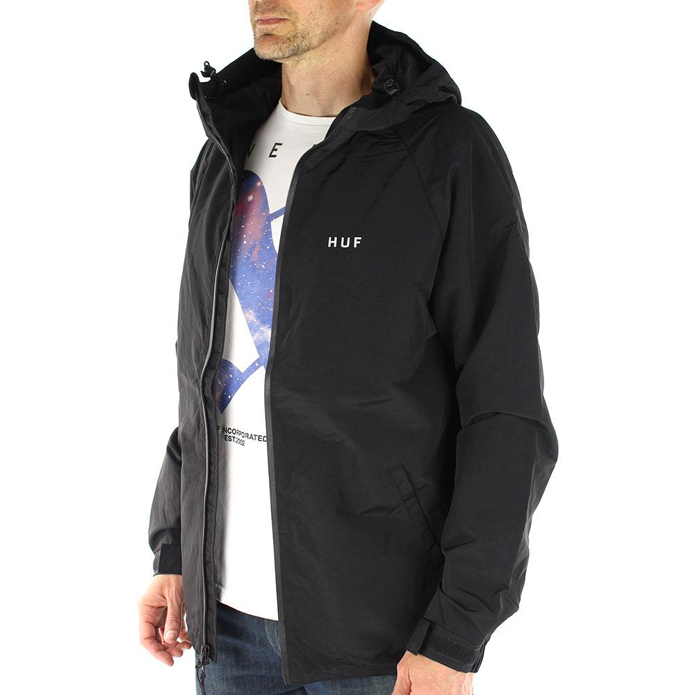HUF-Standard-Shell-Zip-Through-Jacket-Black-03