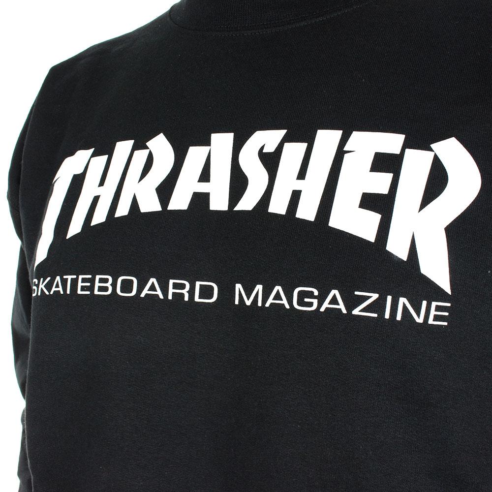 Thrasher skate mag crew sweater black jpg 1000x1000 Thrasher skateboard ad3eedc834e
