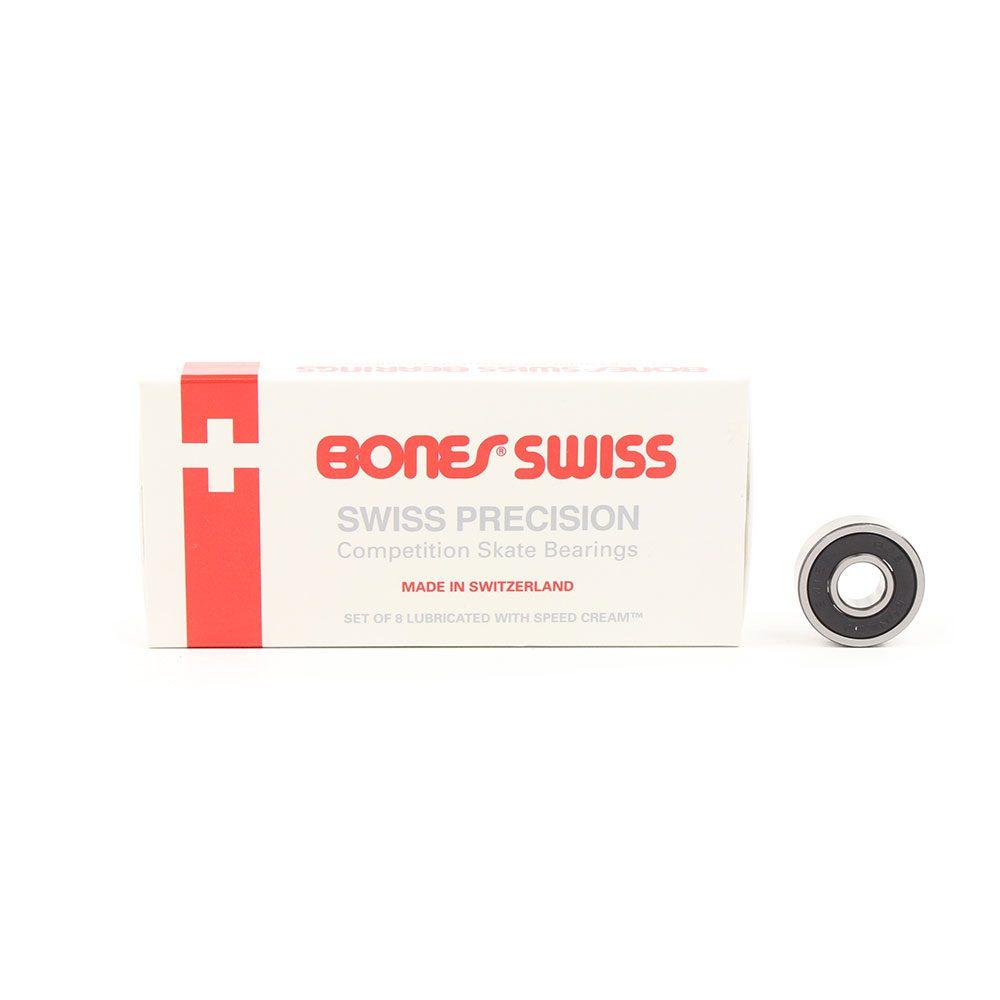 Bones Swiss Precision Skateboard Bearings (8 Pack)