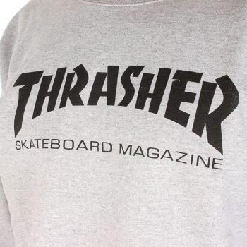 Thrasher Skate Mag Crew Sweater - Heather Grey