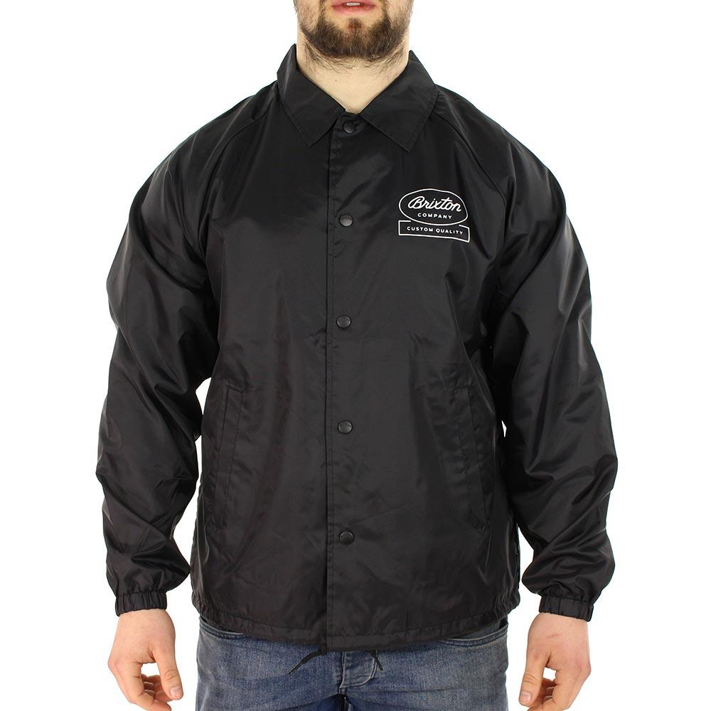 Brixton Dale Coaches Jacket Black White