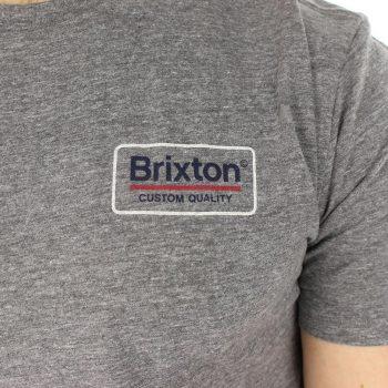 Brixton Palmer Short Sleeve T-Shirt - Heather Grey
