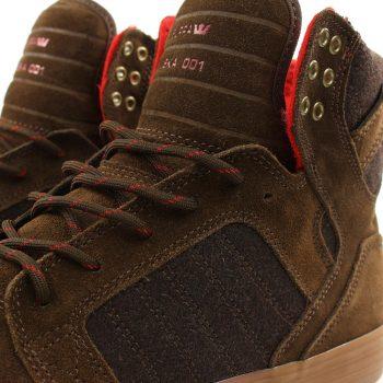 Supra Skytop High-Top Shoes - Brown / Gum