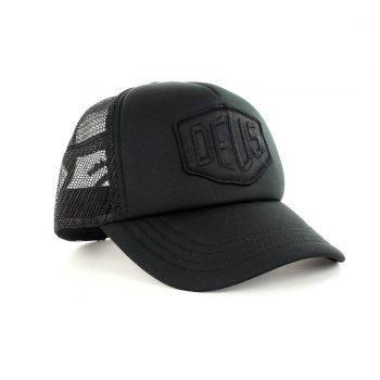 Deus Ex Machina Baylands Mesh Back Trucker Cap - Black