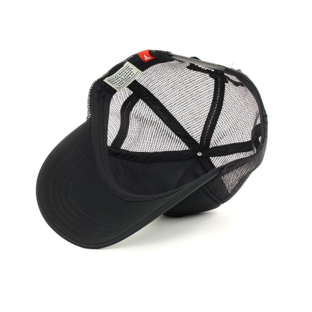 Deus Ex Machina Baylands Mesh Back Trucker Cap - Black 4c77745dd2ee