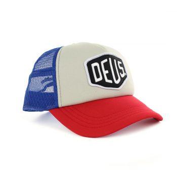 Deus Ex Machina Baylands Mesh Back Trucker Cap - Blue Red