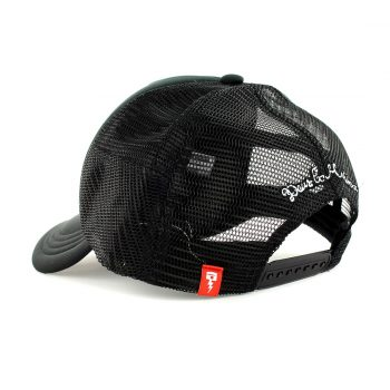 Deus Ex Machina Circle Logo Mesh Back Trucker Cap - Black