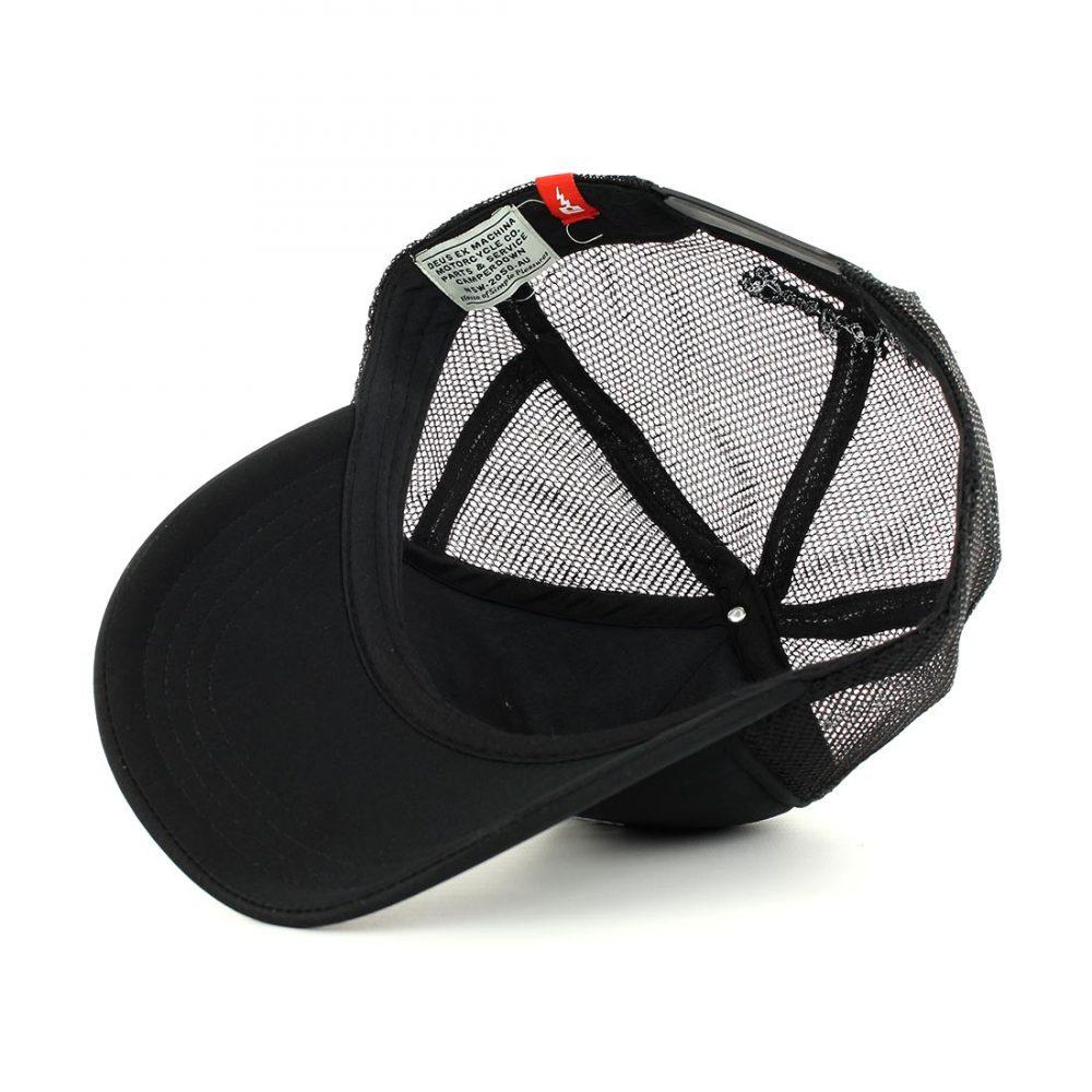 3d971fa6a3b Deus Ex Machina Circle Logo Mesh Back Trucker Cap - Black