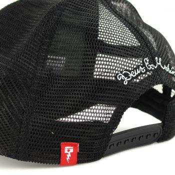 Deus Ex Machina Circle Logo Mesh Back Trucker Cap - Black / White