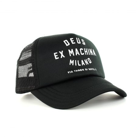 Deus Ex Machina Milano Address Mesh Back Trucker Cap - Black