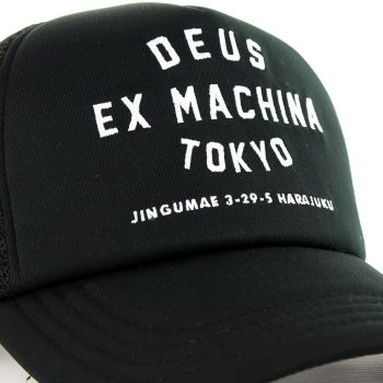 Deus Ex Machina Tokyo Address Mesh Back Trucker Cap - Black