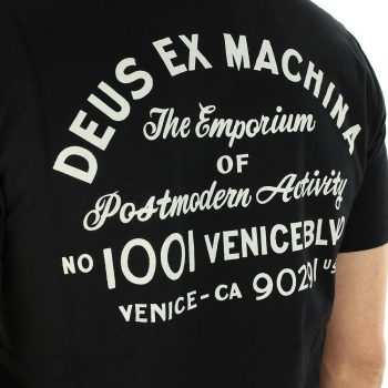 Deus Ex Machina Venice LA Address T-Shirt - Black