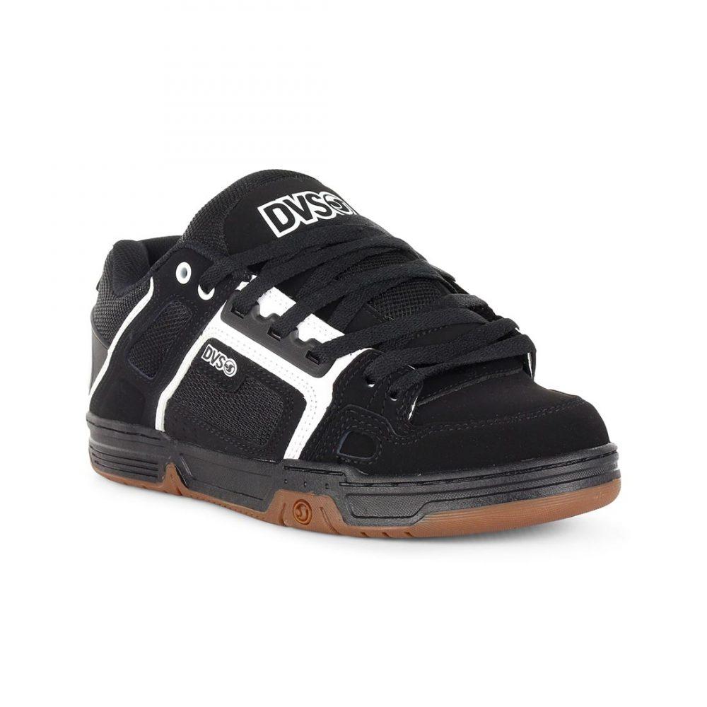 0c2ebb6193e6e3 DVS-Shoes-Comanche-Black-White-Gum-Nubuck-01