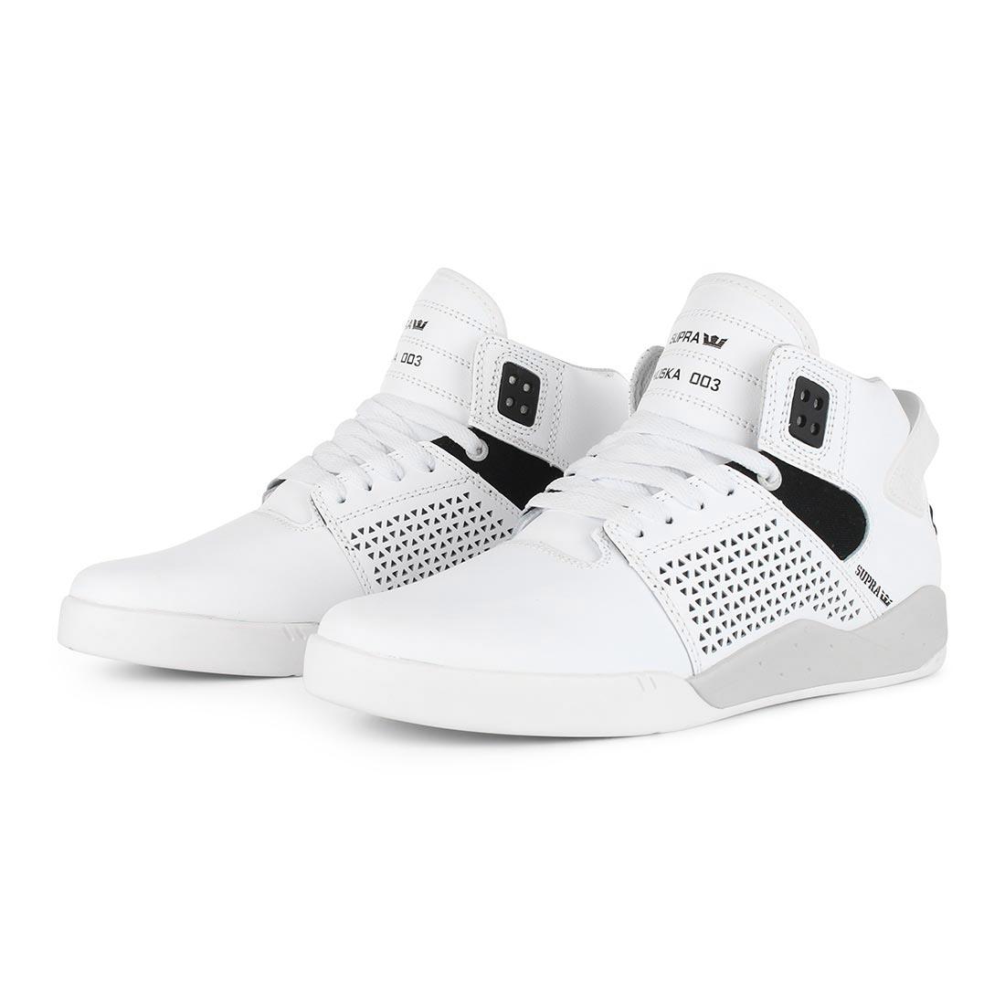 dc9adf5b05c7 Supra Shoes Skytop 3 High Top - White Black White