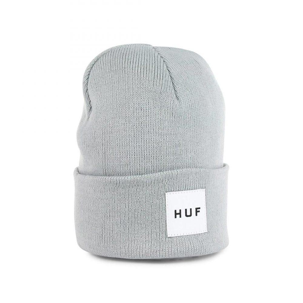 6b57c90a4c1 HUF Box Logo Beanie Hat - Heather Grey