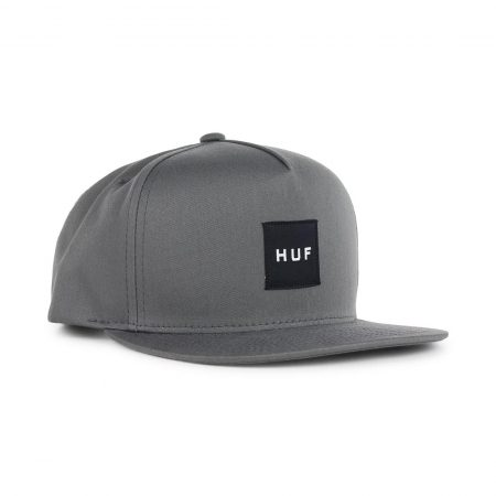 HUF Box Logo Hat Grey