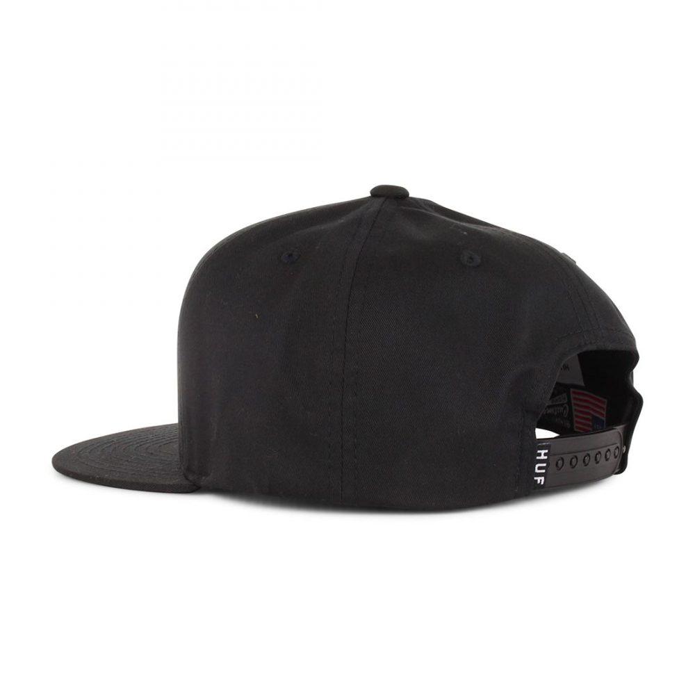 HUF-Triple-Triangle-Snapback-Hat-Black-03