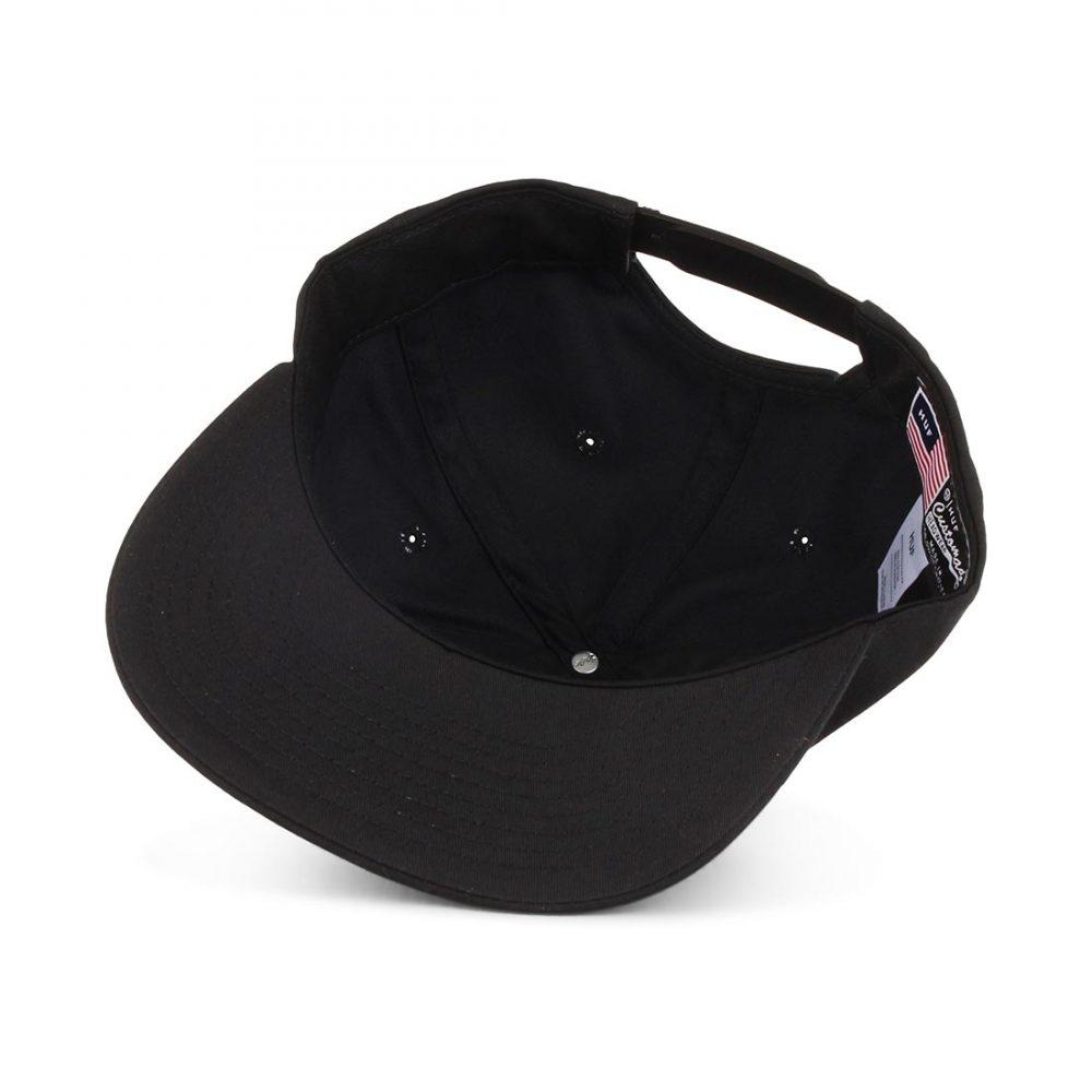 HUF-Triple-Triangle-Snapback-Hat-Black-05