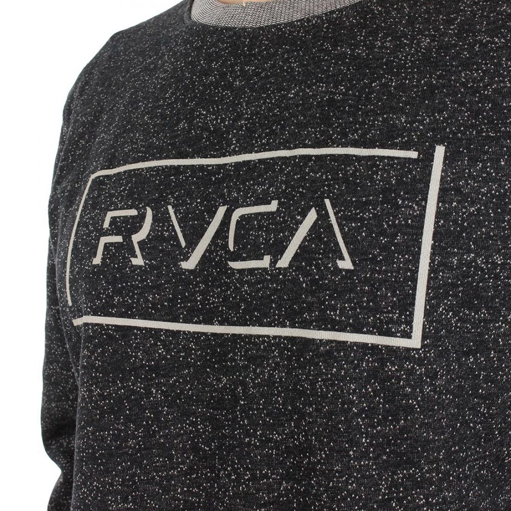 Big Rvca Crew Sweater Black