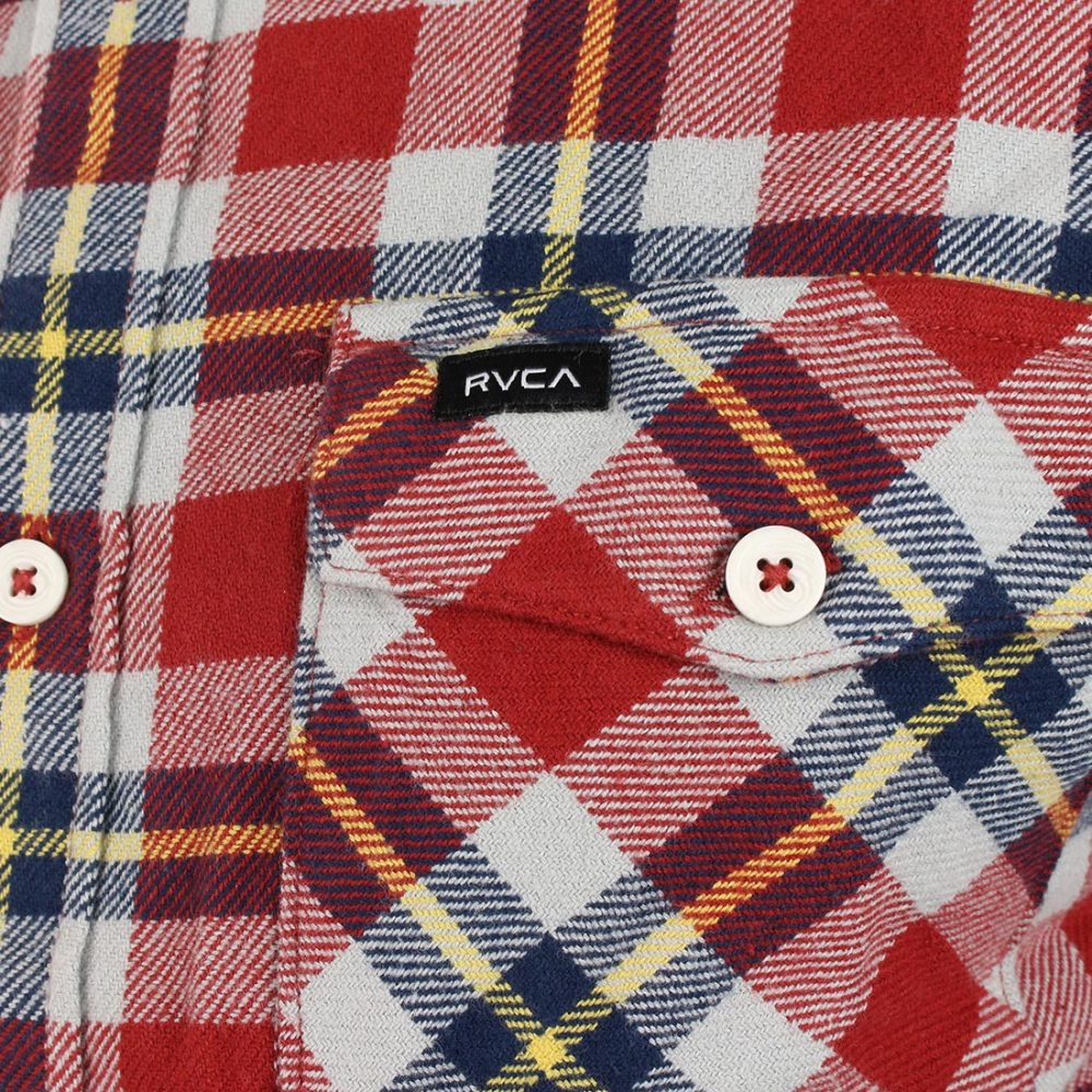 RVCA Flannel Shirt Rosewood