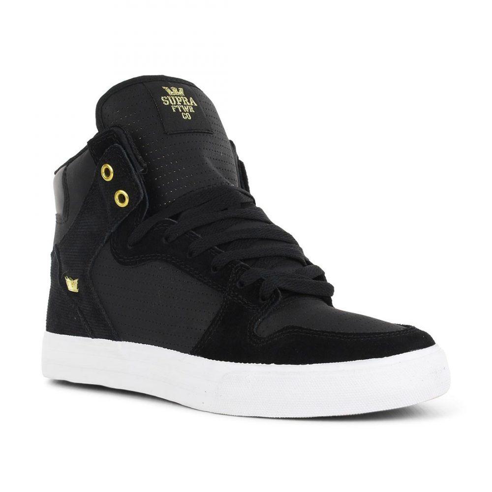 Supra Shoes Vaider High Top - Black Gold 22f8f38da293