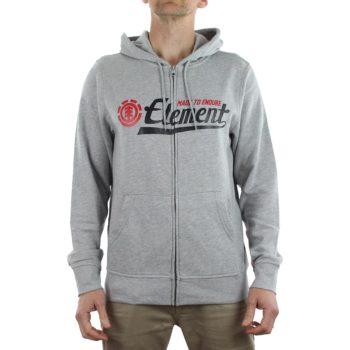 Element Signature Zip Hoodie Grey