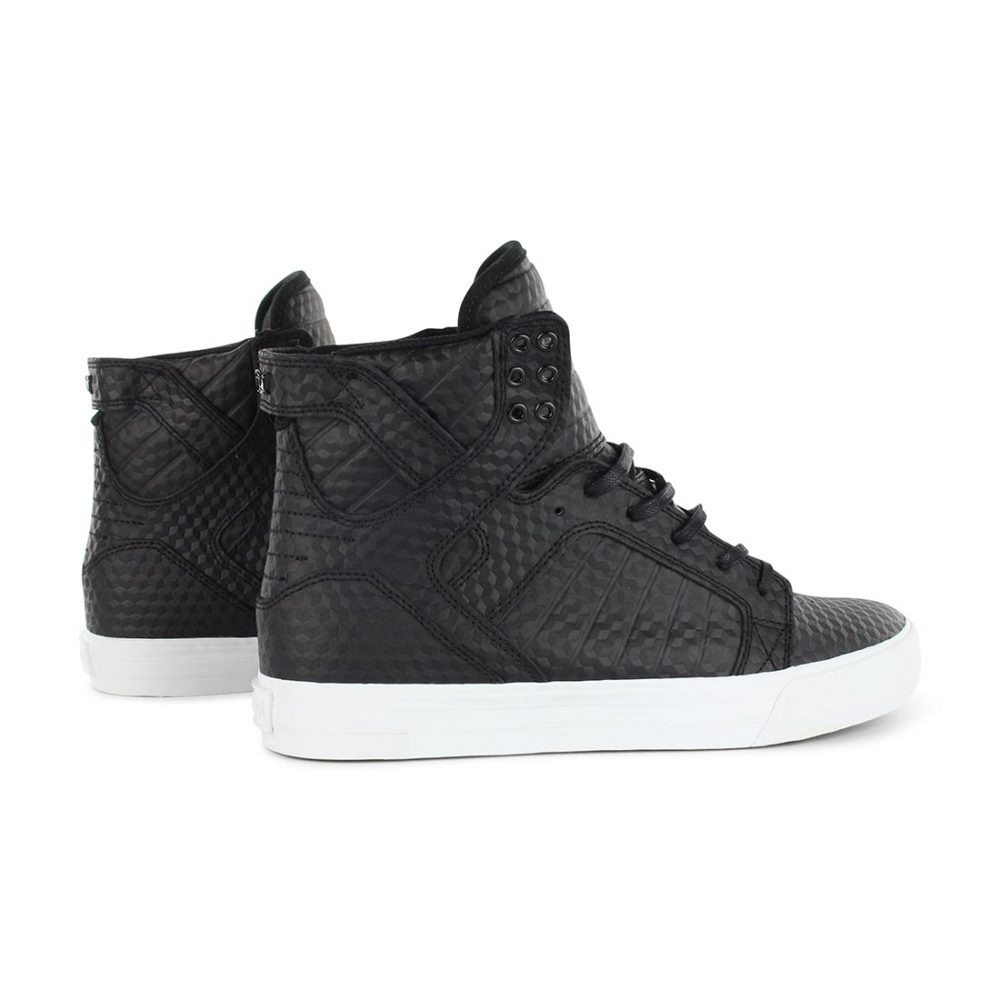 1cd906c7130e ... Supra-Shoes-Skytop-Black-White-Leather-Embossed-05 ...