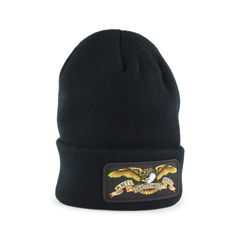 Anti-Hero-Eagle-Patch-Cuff-Beanie-Hat-Black-01
