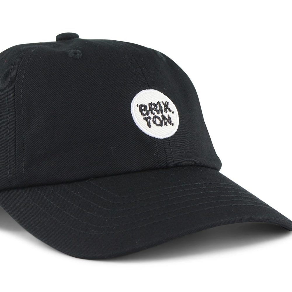Brixton Glasgow 6 Panel Adjustable Cap - Black