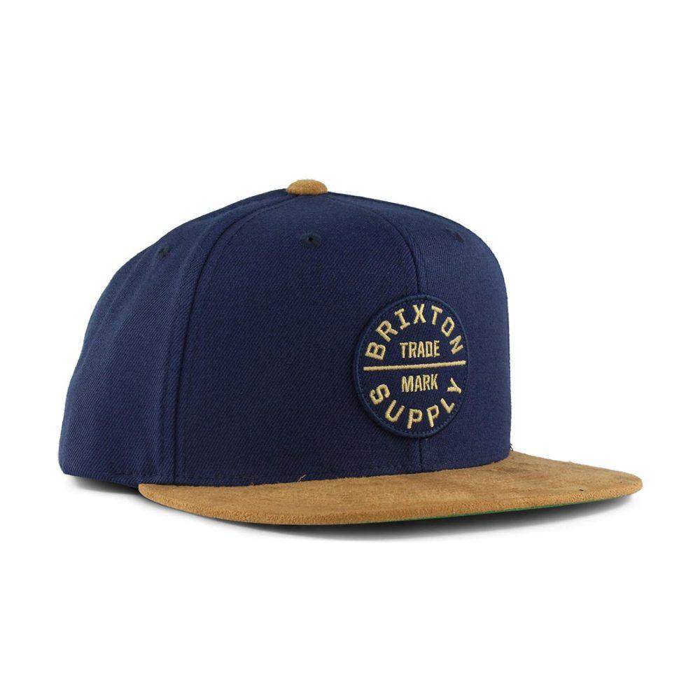 2229603df3f Brixton Oath III Snap Back Hat - Navy   Tan