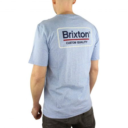 Brixton Palmer Tee Blue