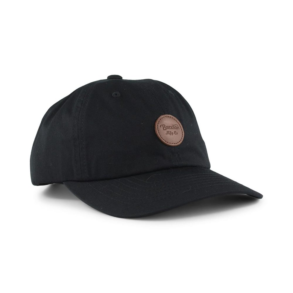 Brixton-Wheeler-6-Panel-MP-Adjustable-Cap-Black-01