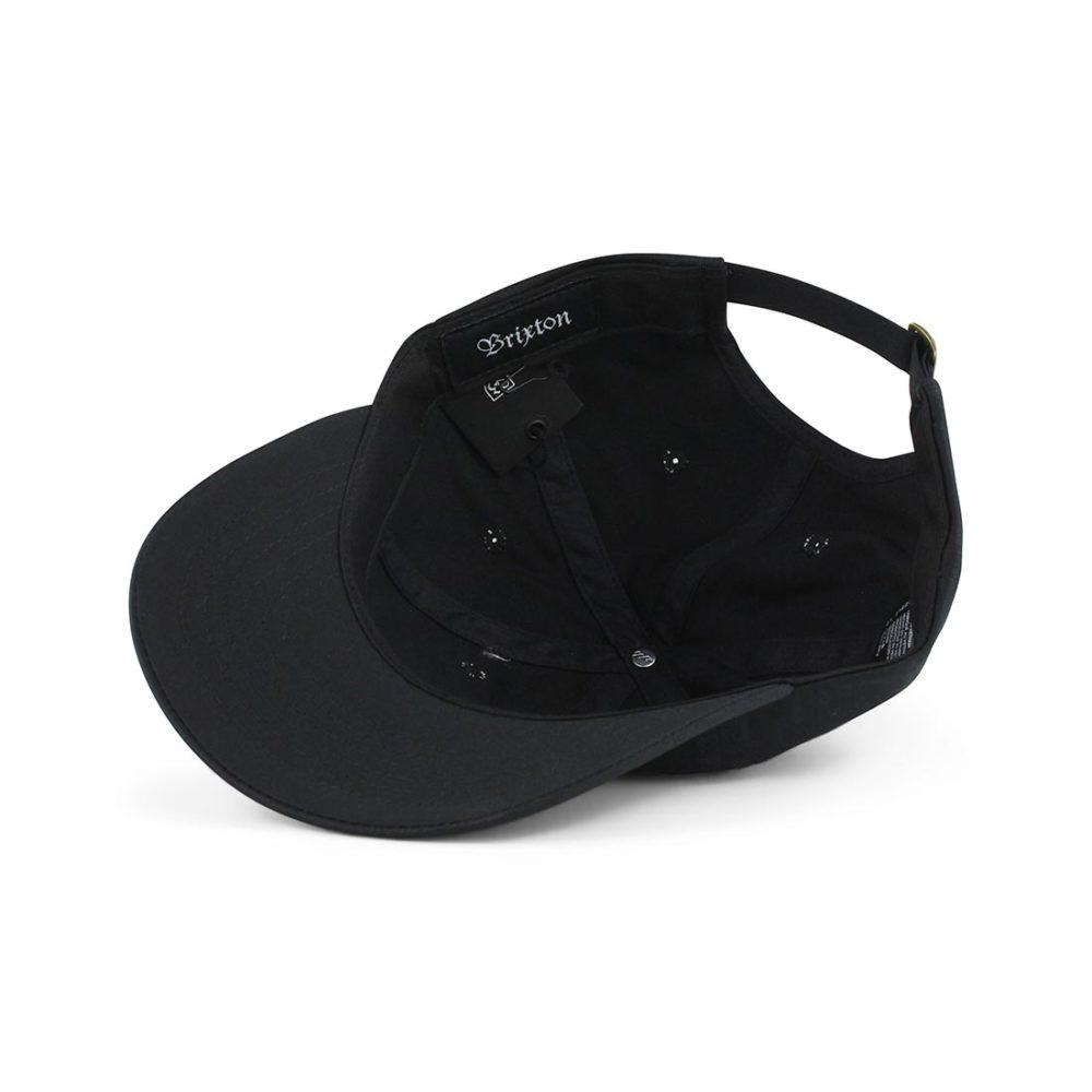 Brixton-Wheeler-6-Panel-MP-Adjustable-Cap-Black-05