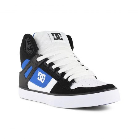 DC Pure High Top White Blue Black