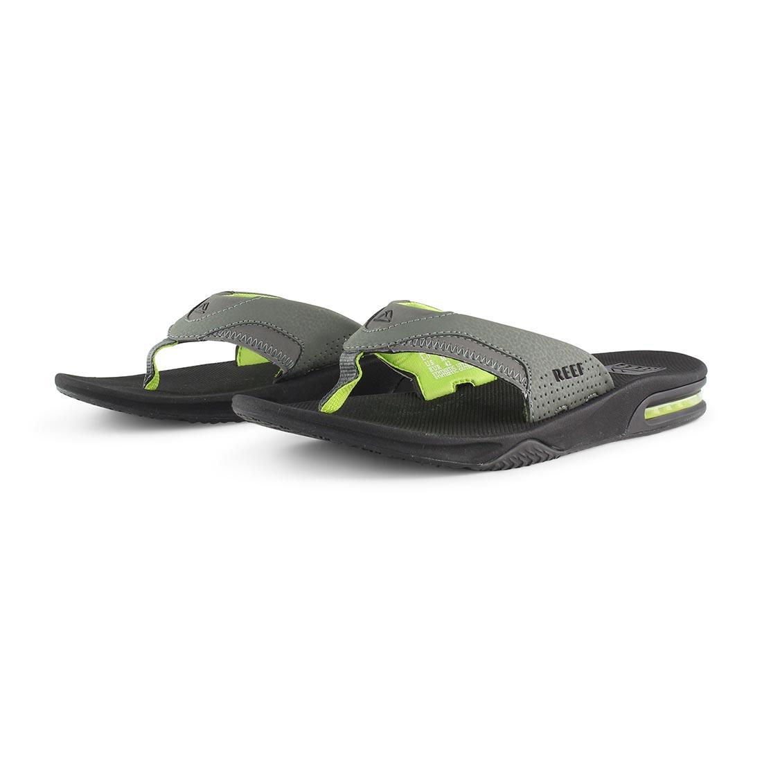 e1eba9bf69ff reef fanning green Reef Fanning Sandals - Black   Green