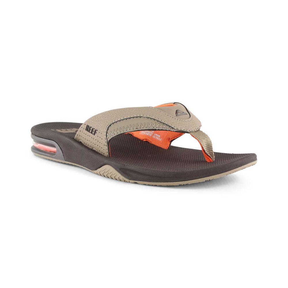 0657900b8bf Reef Fanning Sandals - Brown   Orange
