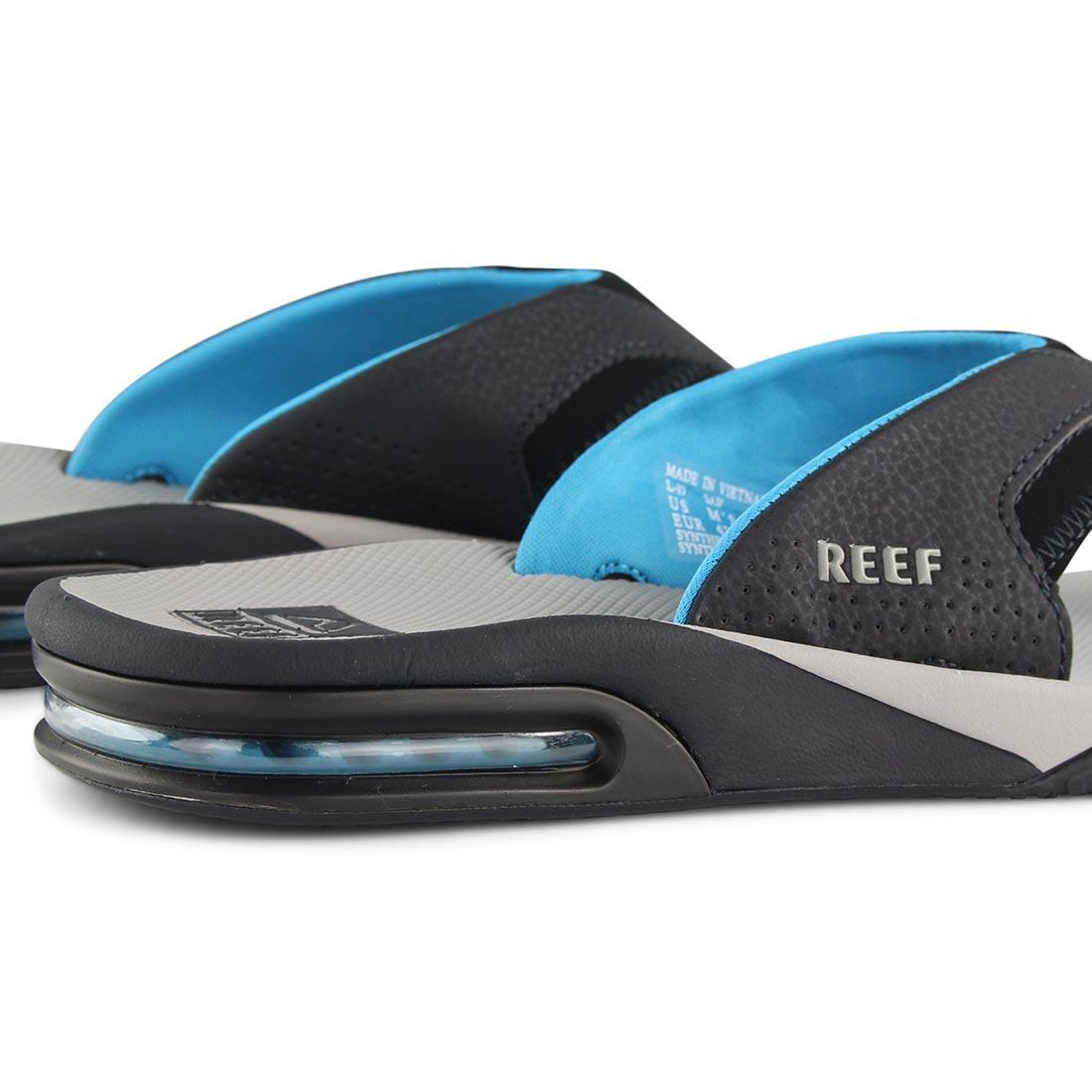 e8483c1be22f Reef Fanning Sandals - Light Grey   Blue