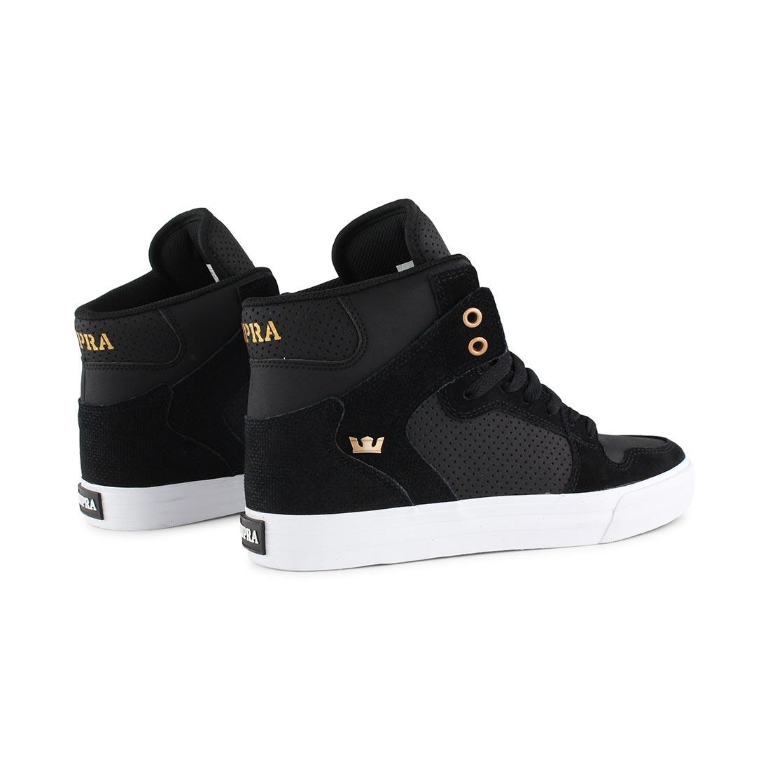 0e85ca112fe6 Supra Vaider High Top Shoes - Black   Copper   White