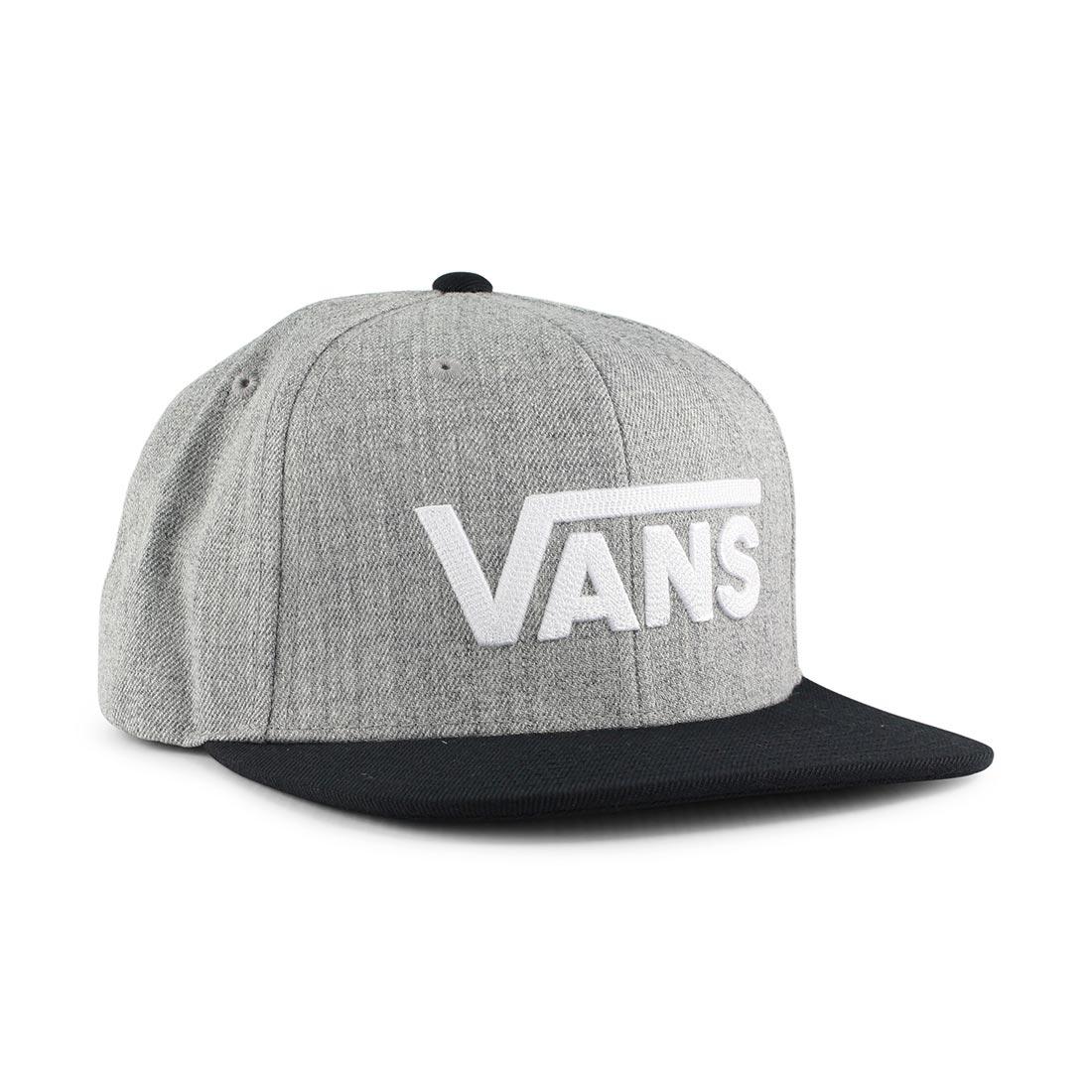 9b4cf8bef Vans Drop V II Snapback Hat - Heather Grey
