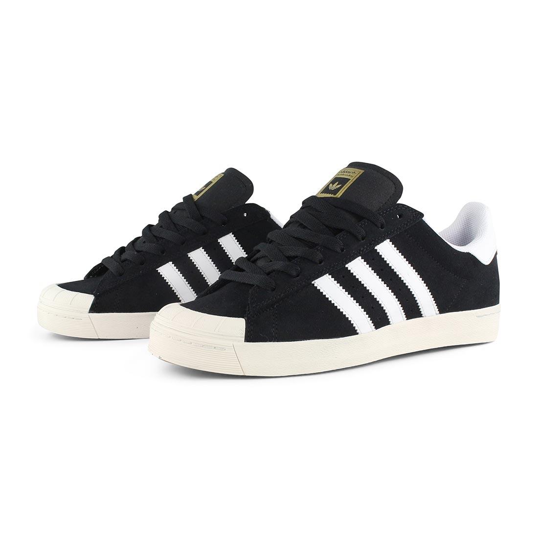 reputable site 247b3 94fe5 ... Adidas-Half-Shell-Vulc-ADV-Shoes-Black-White ...