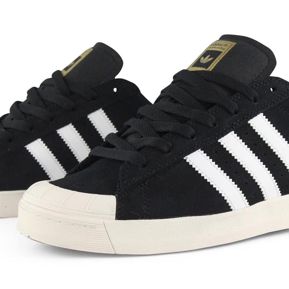 quality design ad572 79f0f ... Adidas-Half-Shell-Vulc-ADV-Shoes-Black-White- ...