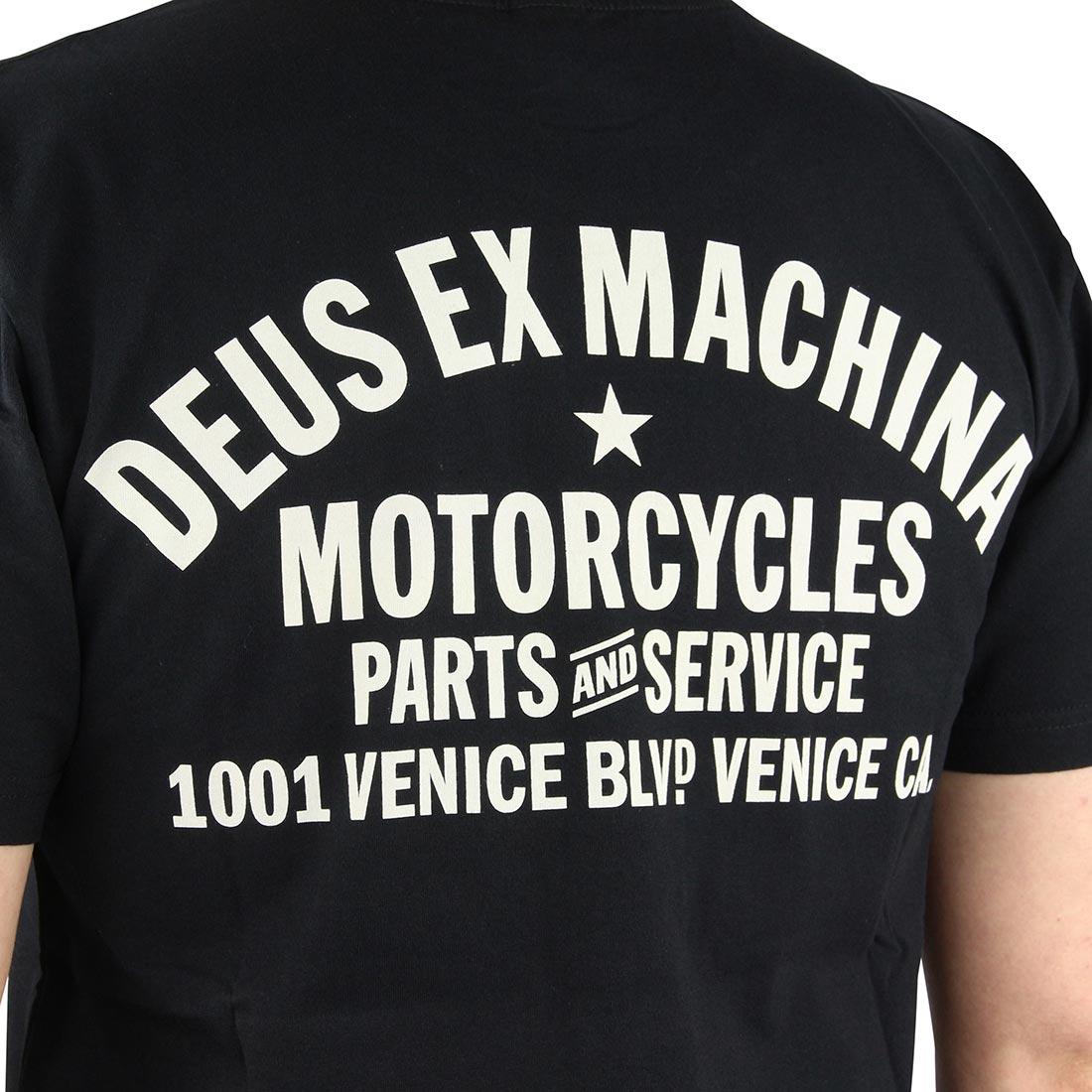 Deus Ex Machina Venice Address (Shield) T-Shirt - Black