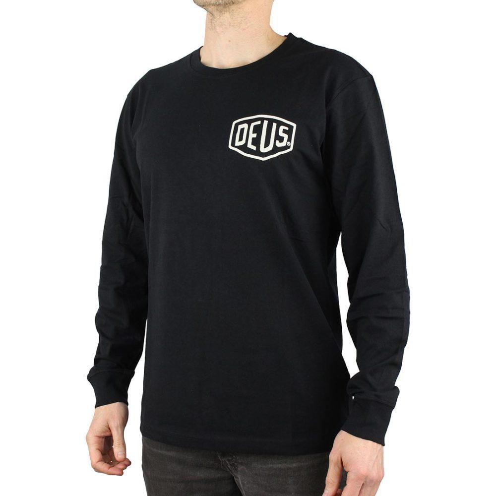 Deus Ex Machina Venice LA Address L/S T-Shirt - Black